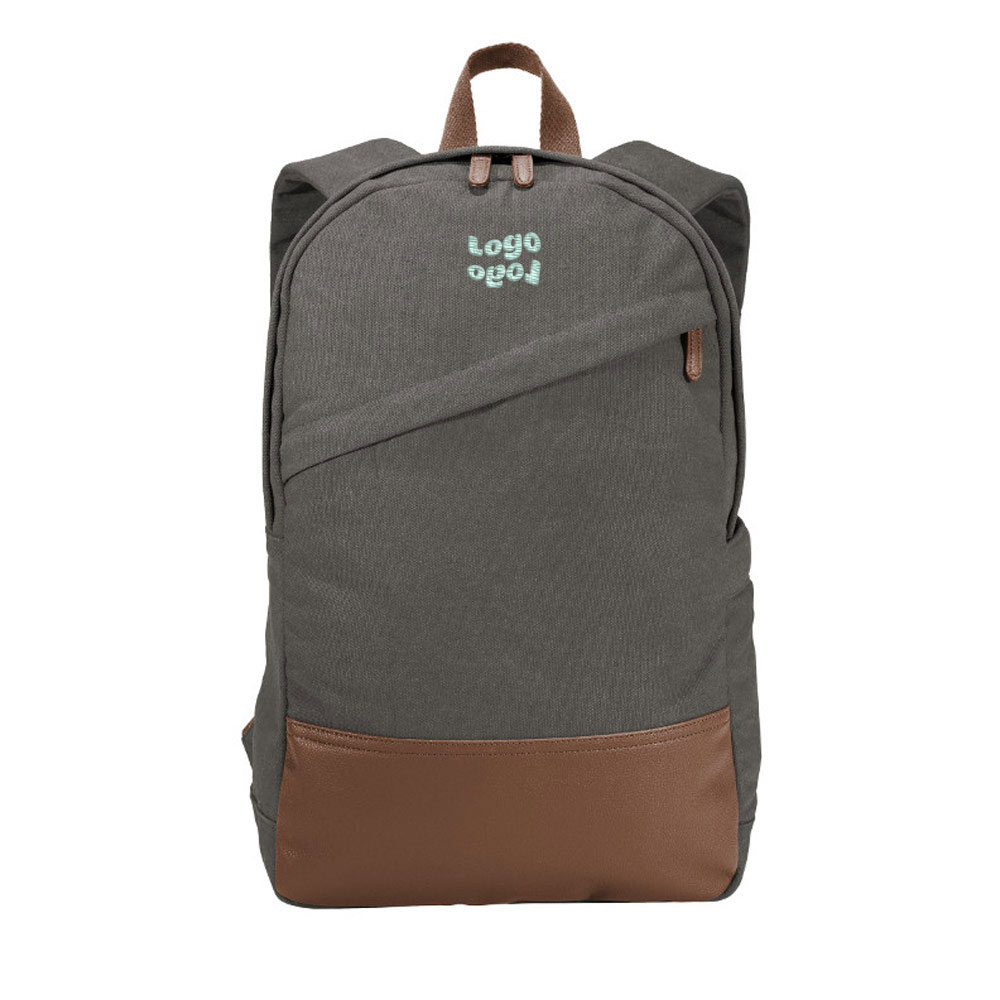 269626 pointe canvas backpack one location embroidery up to 4k stitches