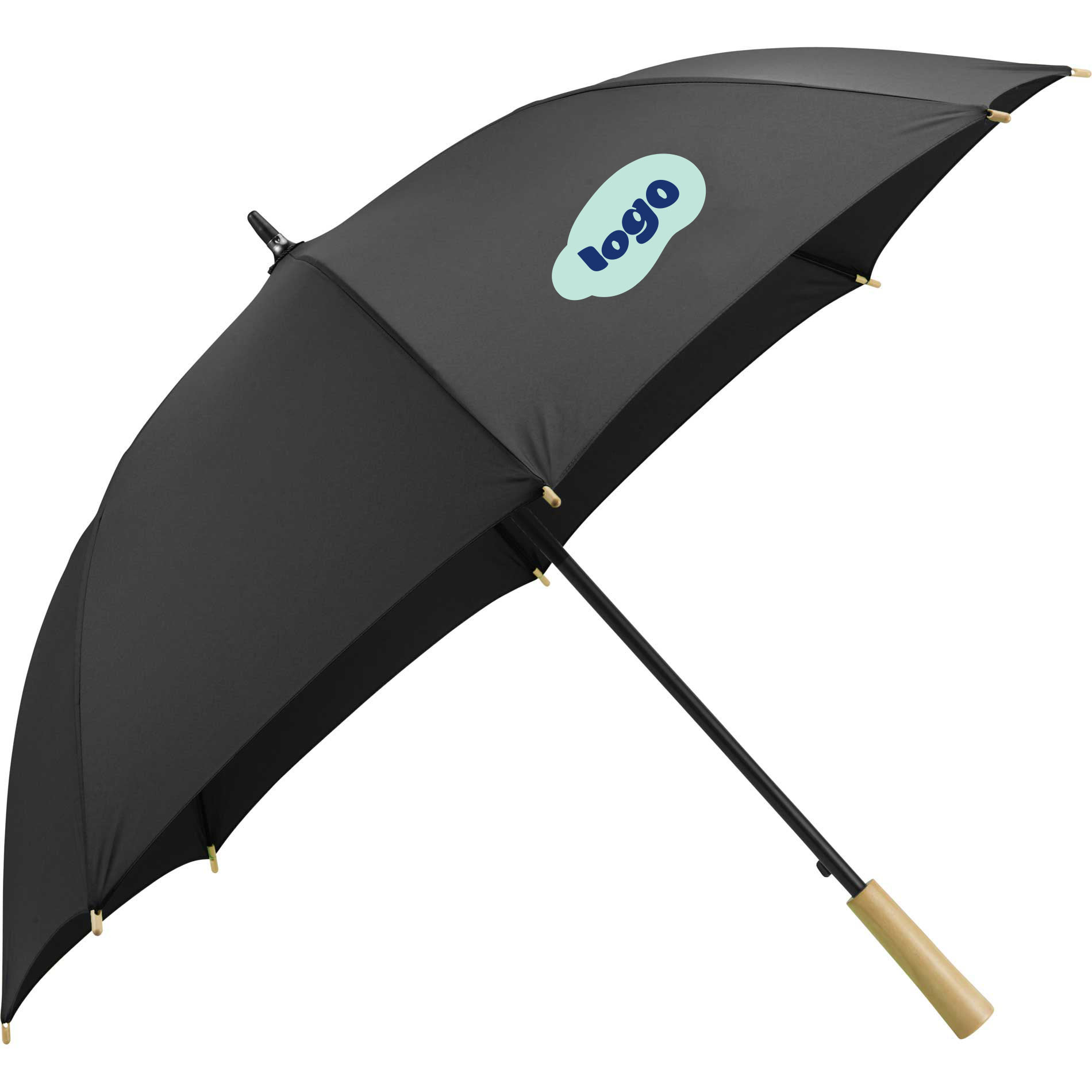 268379 48 recycled auto open umbrella two color one location imprint