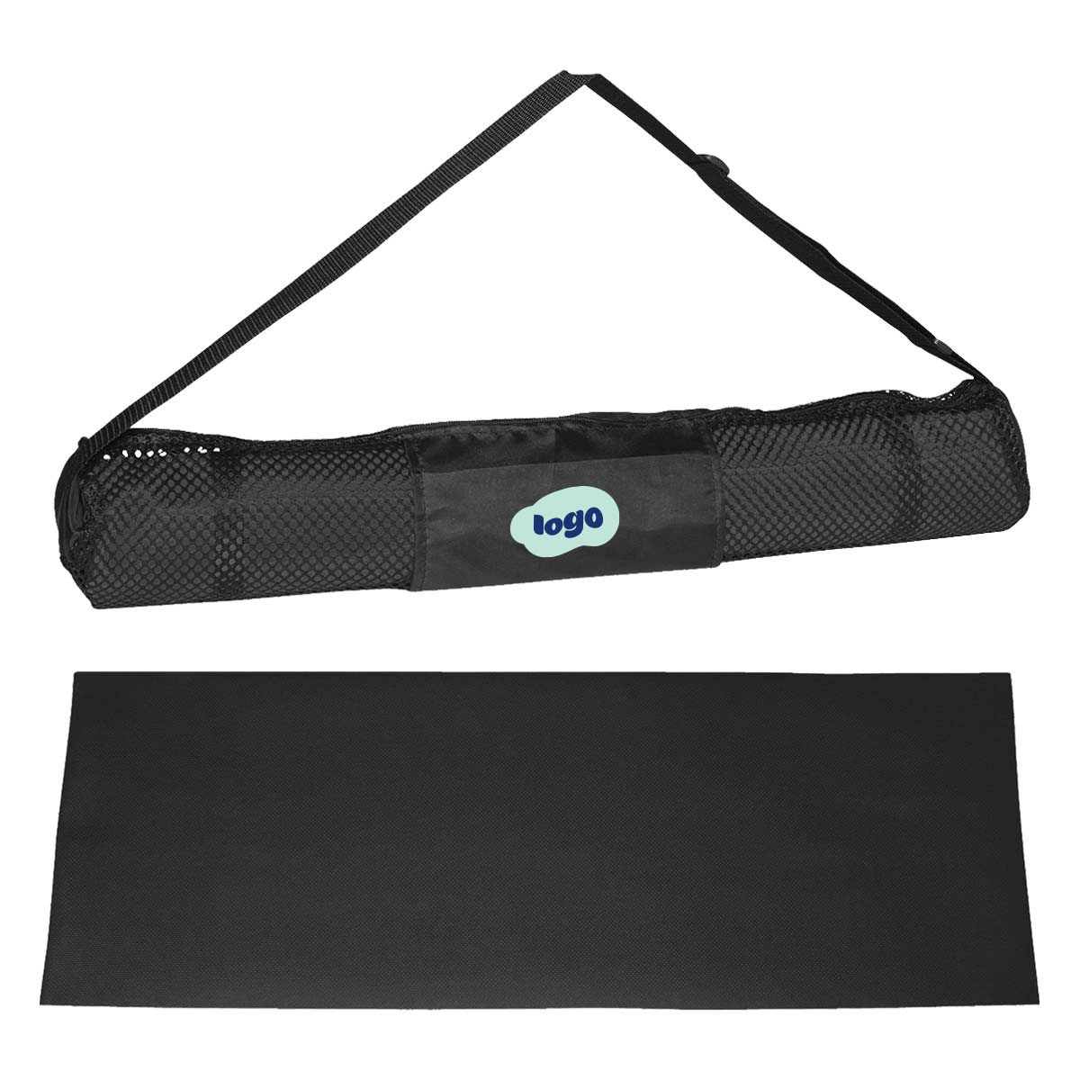 269178 savasana yoga mat and case two color one location imprint