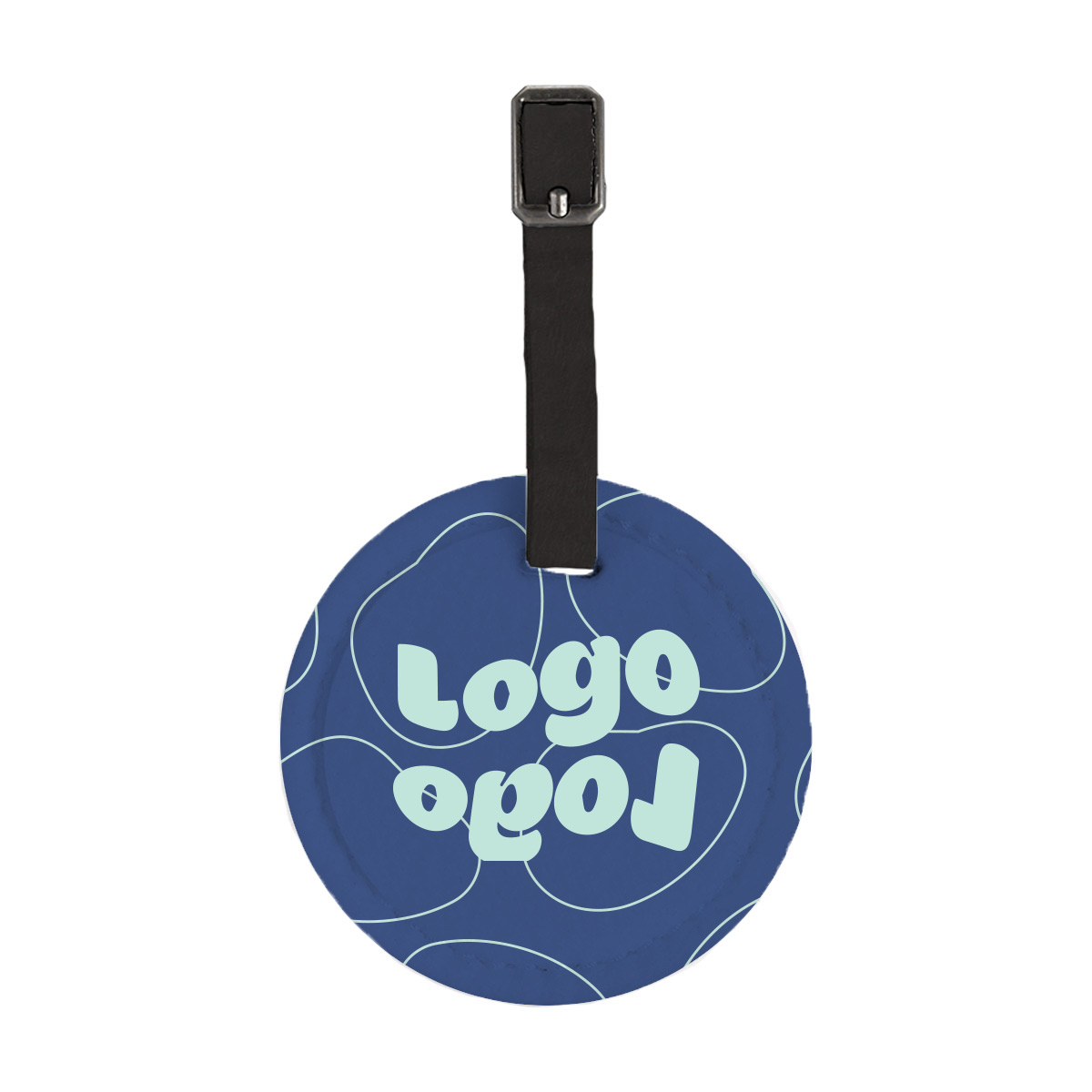 268054 vibrant felt round luggage tag full color sublimation