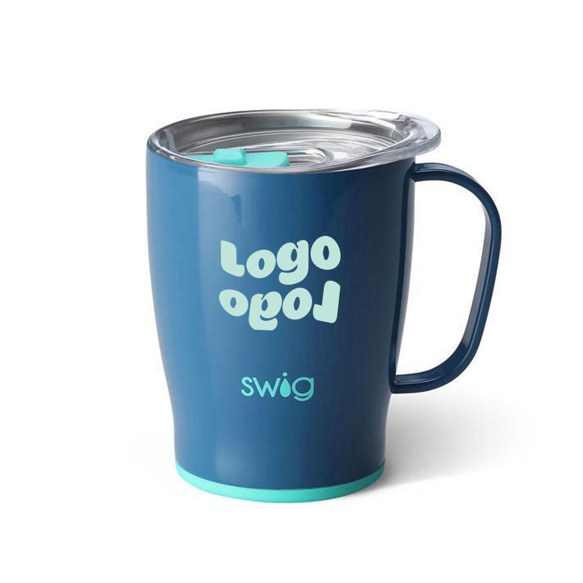 268056 18oz insulated mug one color one location imprint