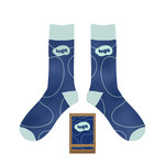 Medium 269637 custom printed socks full color dye sublimation on pair packaging with full color label