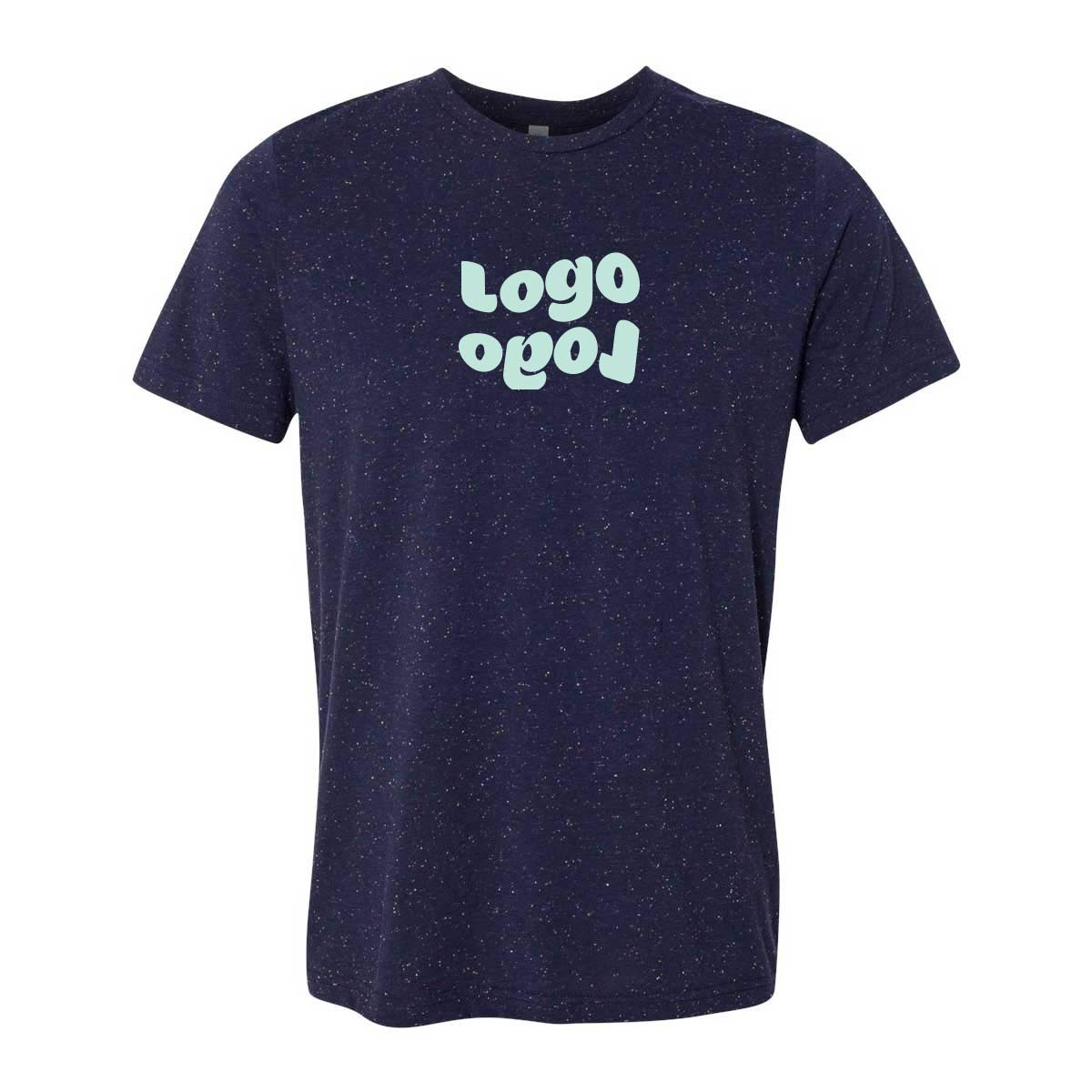 268294 unisex textured short sleeve one color one location imprint
