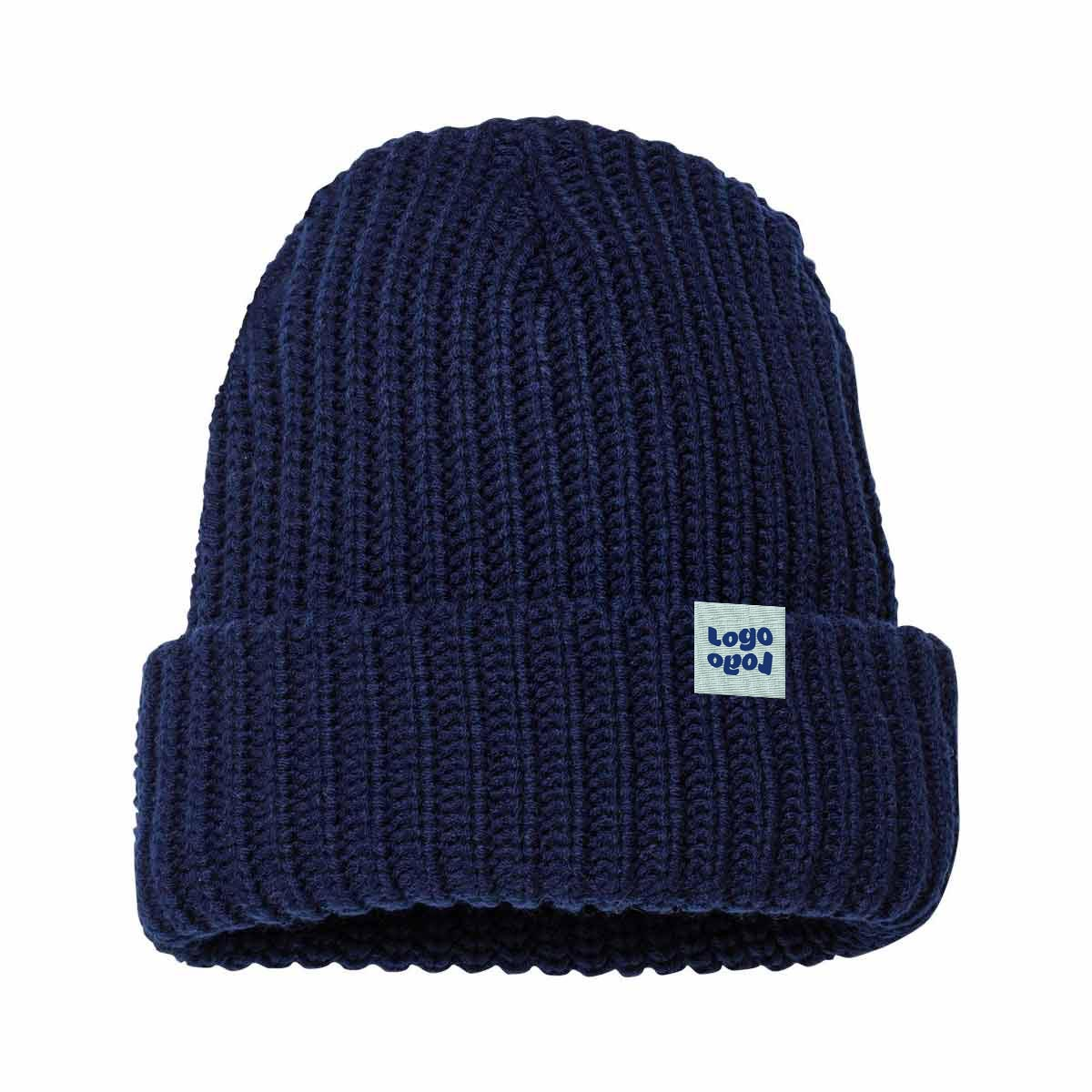 269327 chunky knit beanie 1 woven label