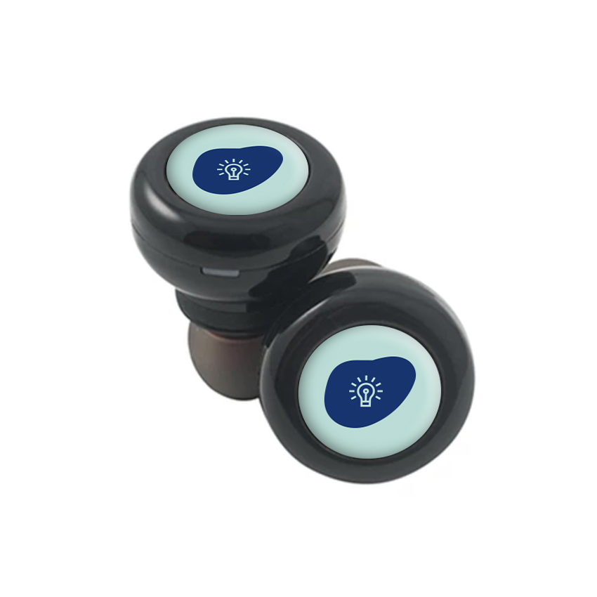 267849 true wireless earbuds full color gel dome