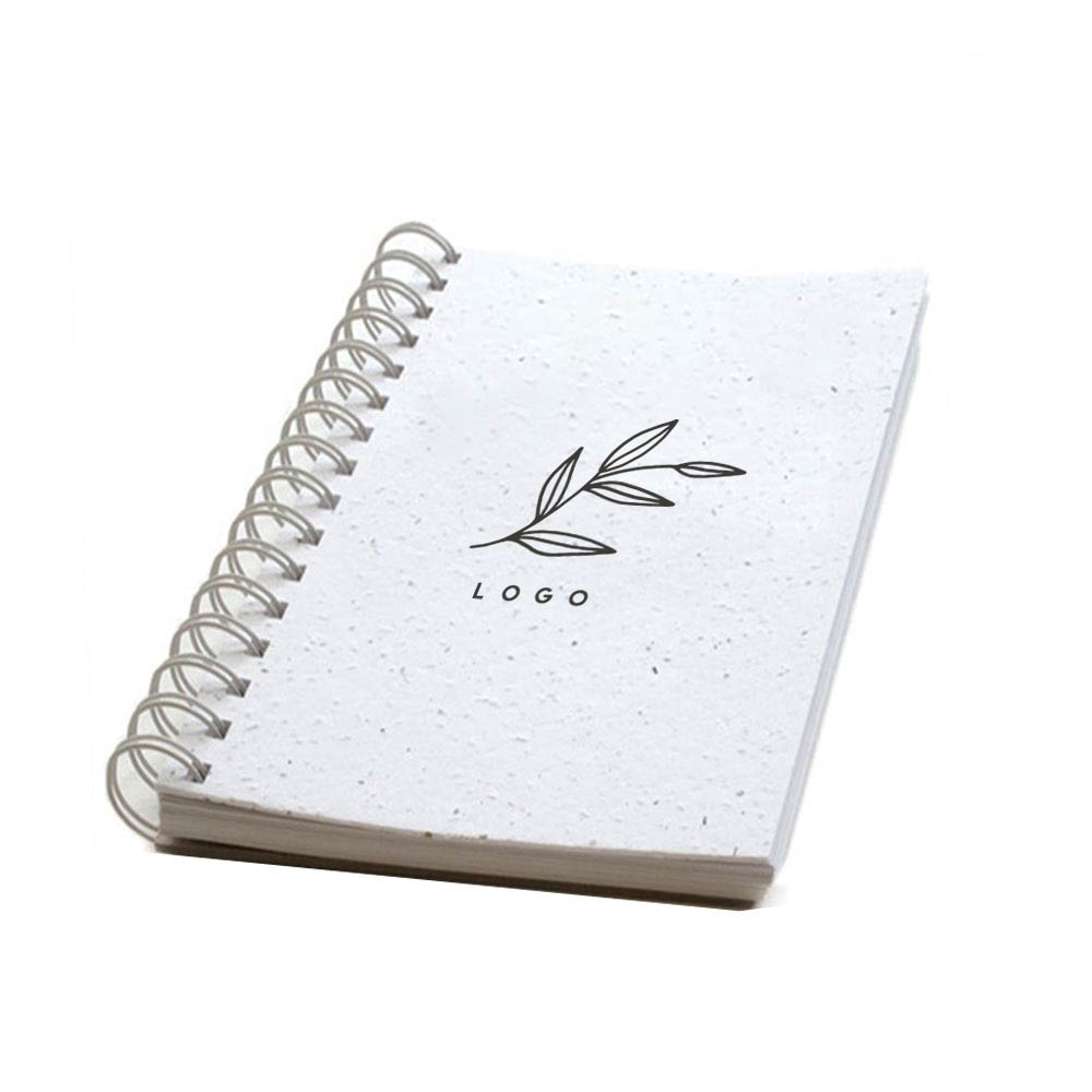 287886 premium plantable notebook full color digital imprint front cover