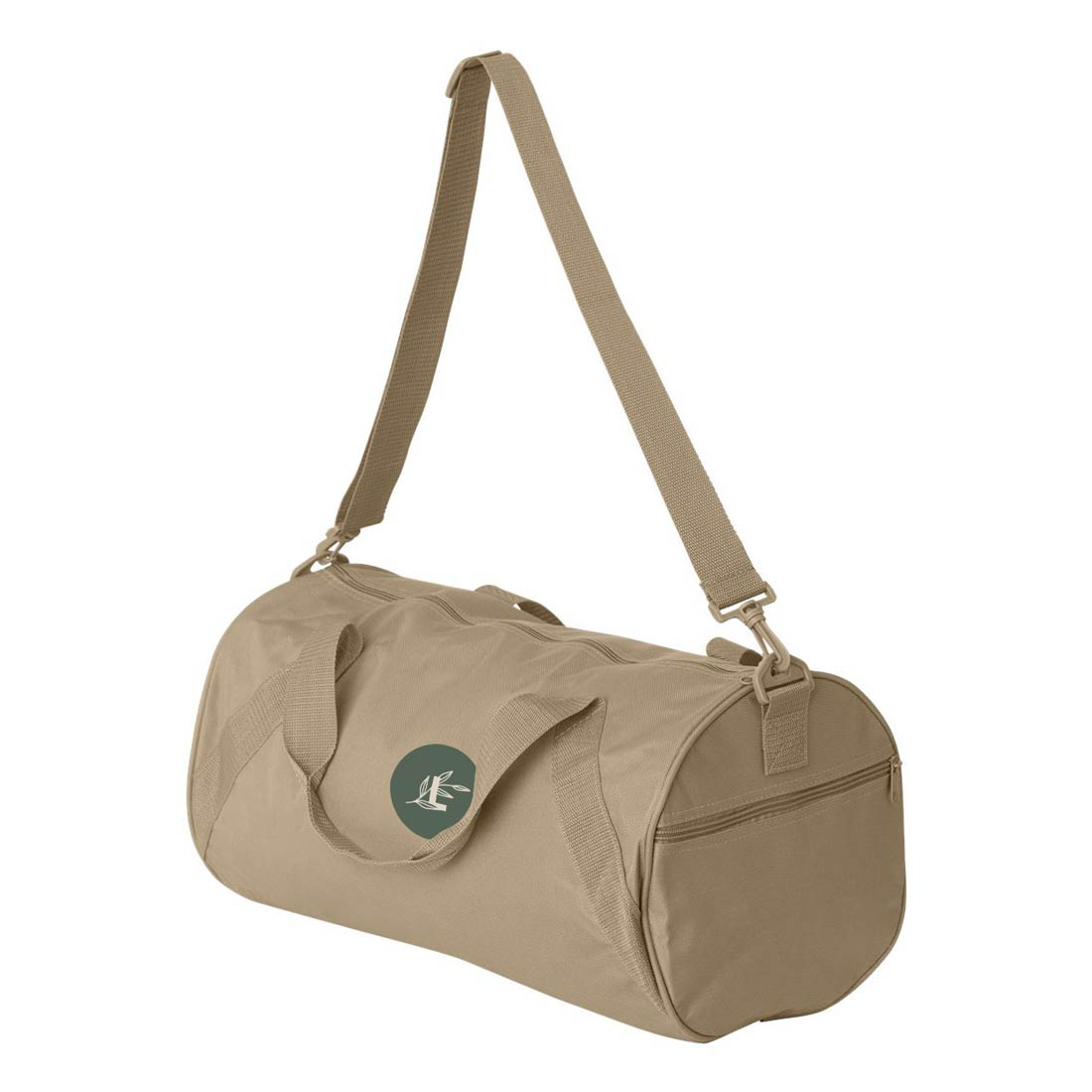 287836 alex recycled duffel bag two color one location imprint