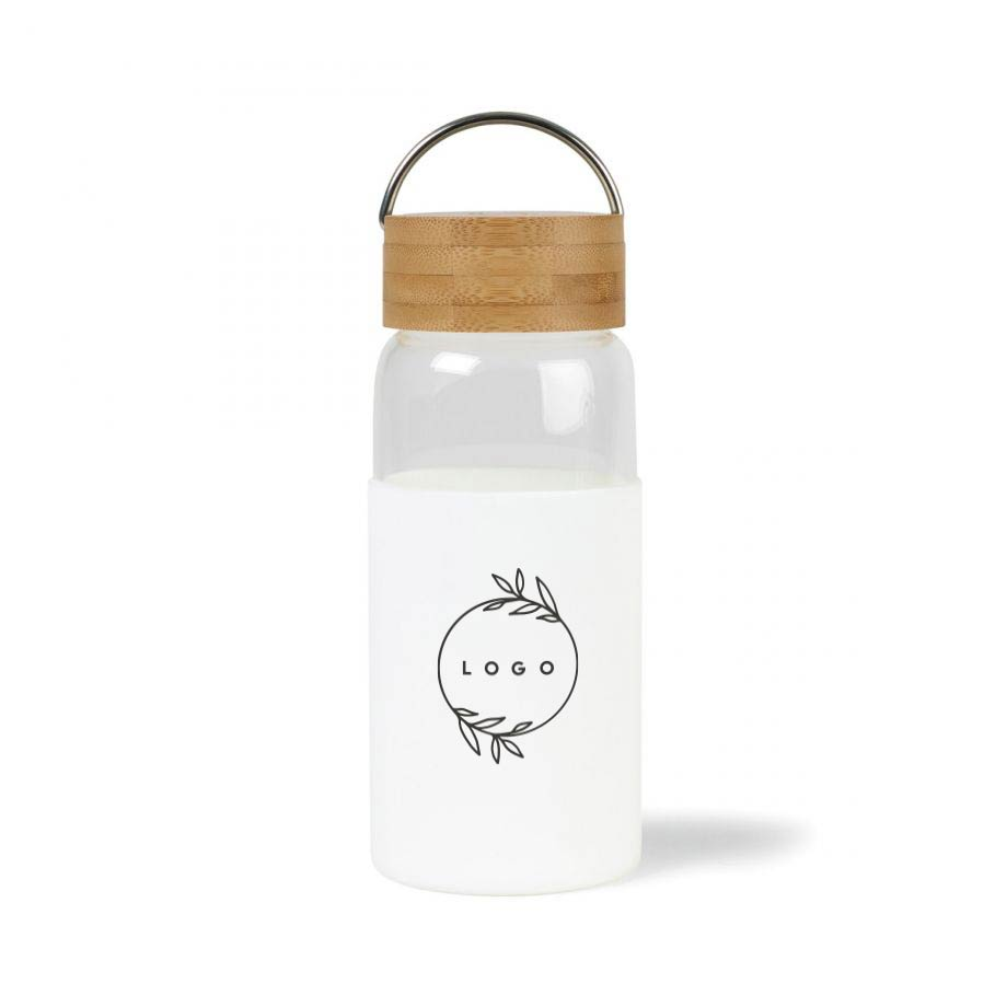 287528 finn bamboo glass bottle one color one location imprint on bottle or cap