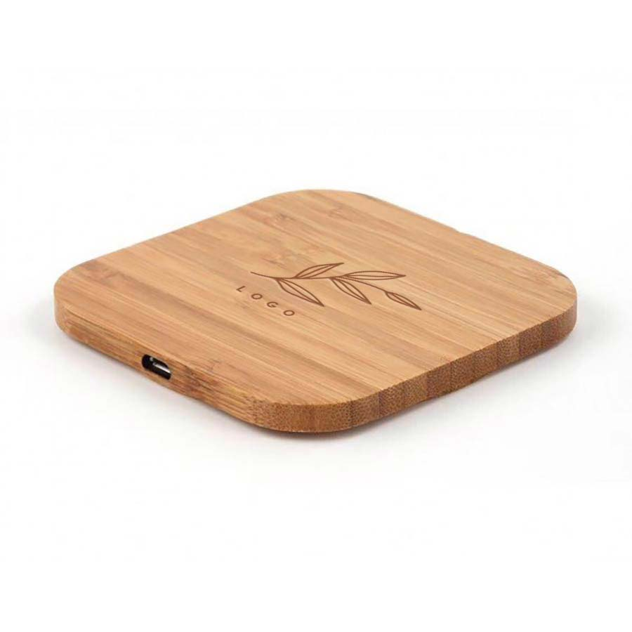 288468 wright bamboo wireless charger one location laser engraving