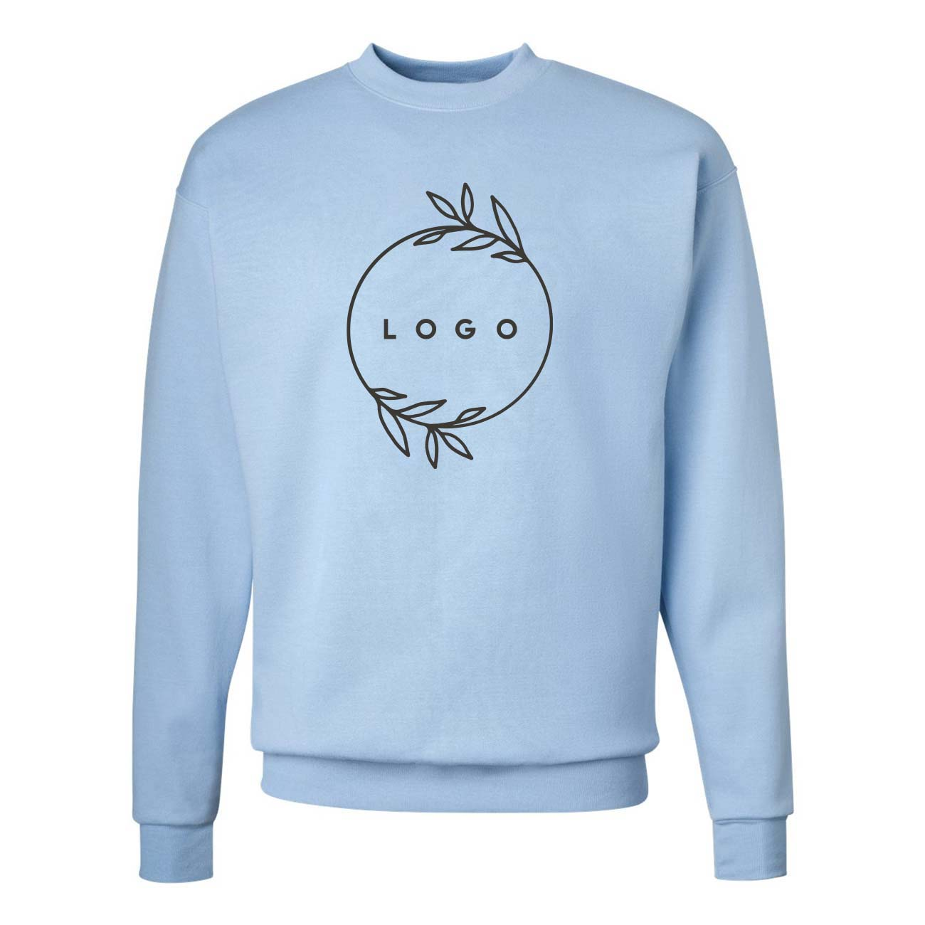 288446 eco crewneck sweatshirt one color screen