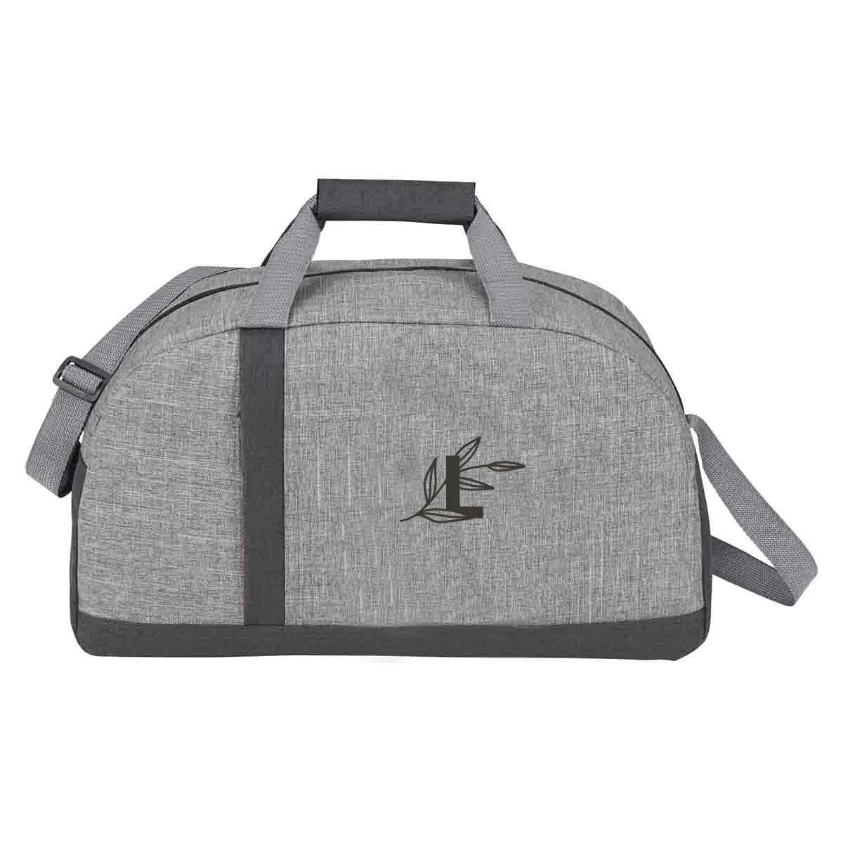 287548 merit recycled duffel three color imprint one location
