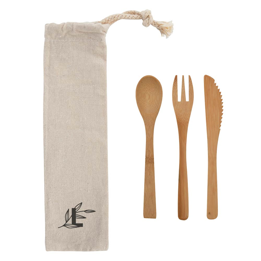 287830 eco utensil set one color one location silkscreen on pouch