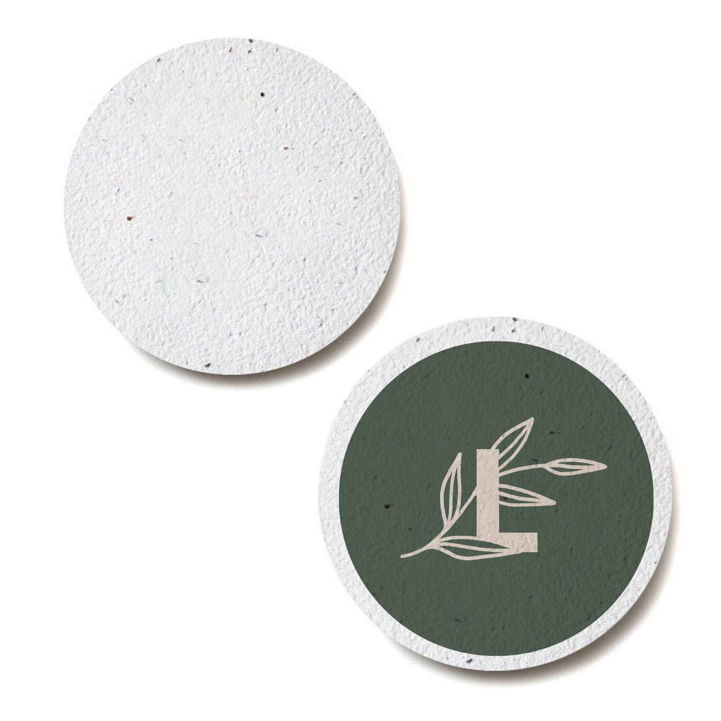287077 plantable seed paper coaster round full color process one side