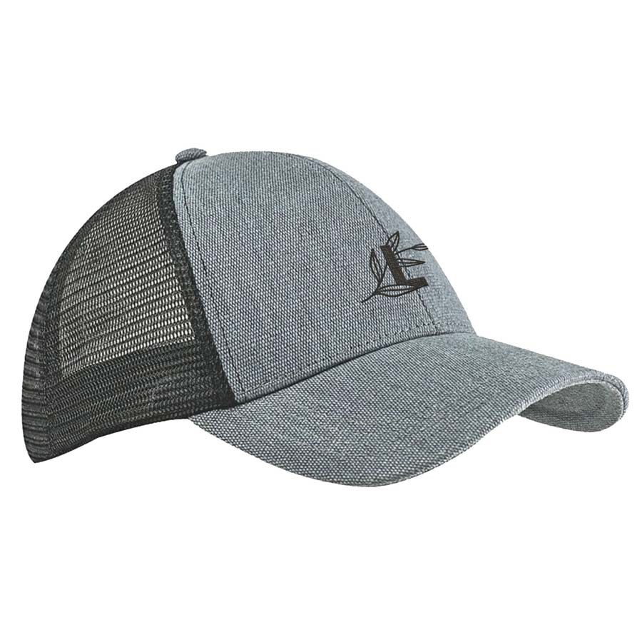 286683 eco trucker cap one location embroidered up to 4k stitches