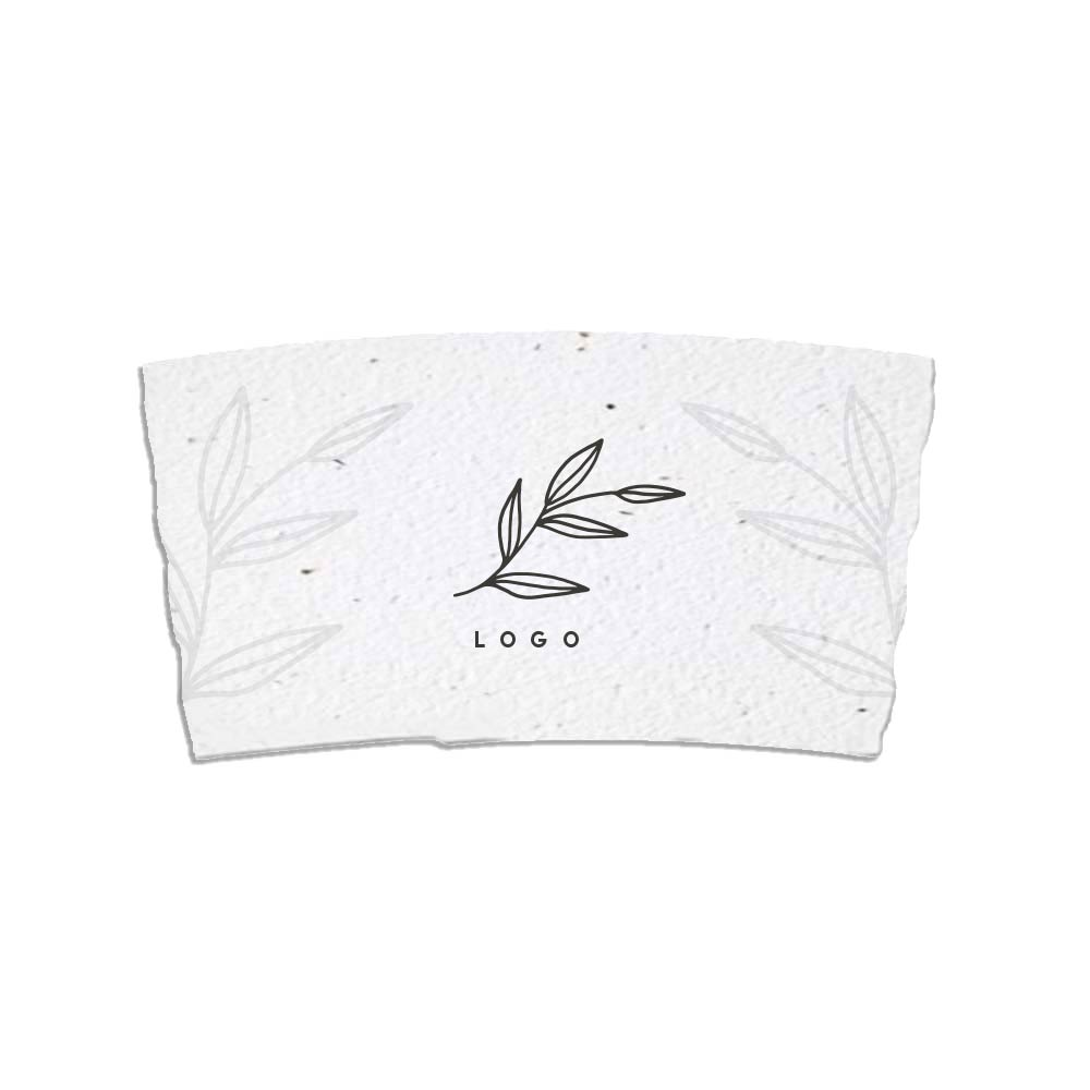 287893 seed paper coffee sleeves white sleeves full color imprint both sides