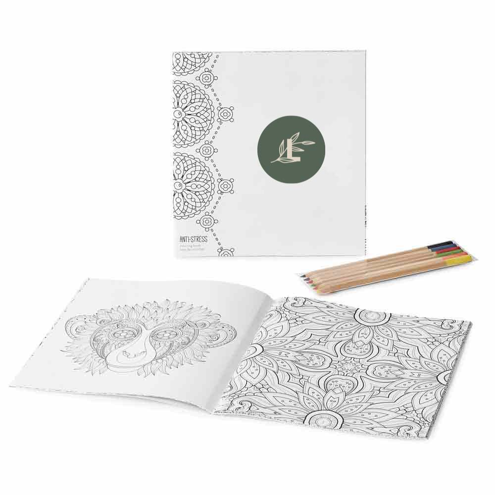 288501 tranquil coloring book set full color imprint one location