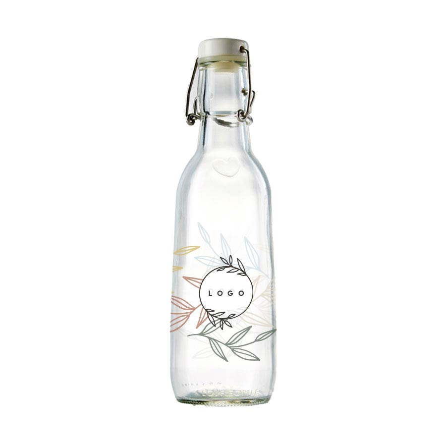287720 glass love bottle full color digital print one side