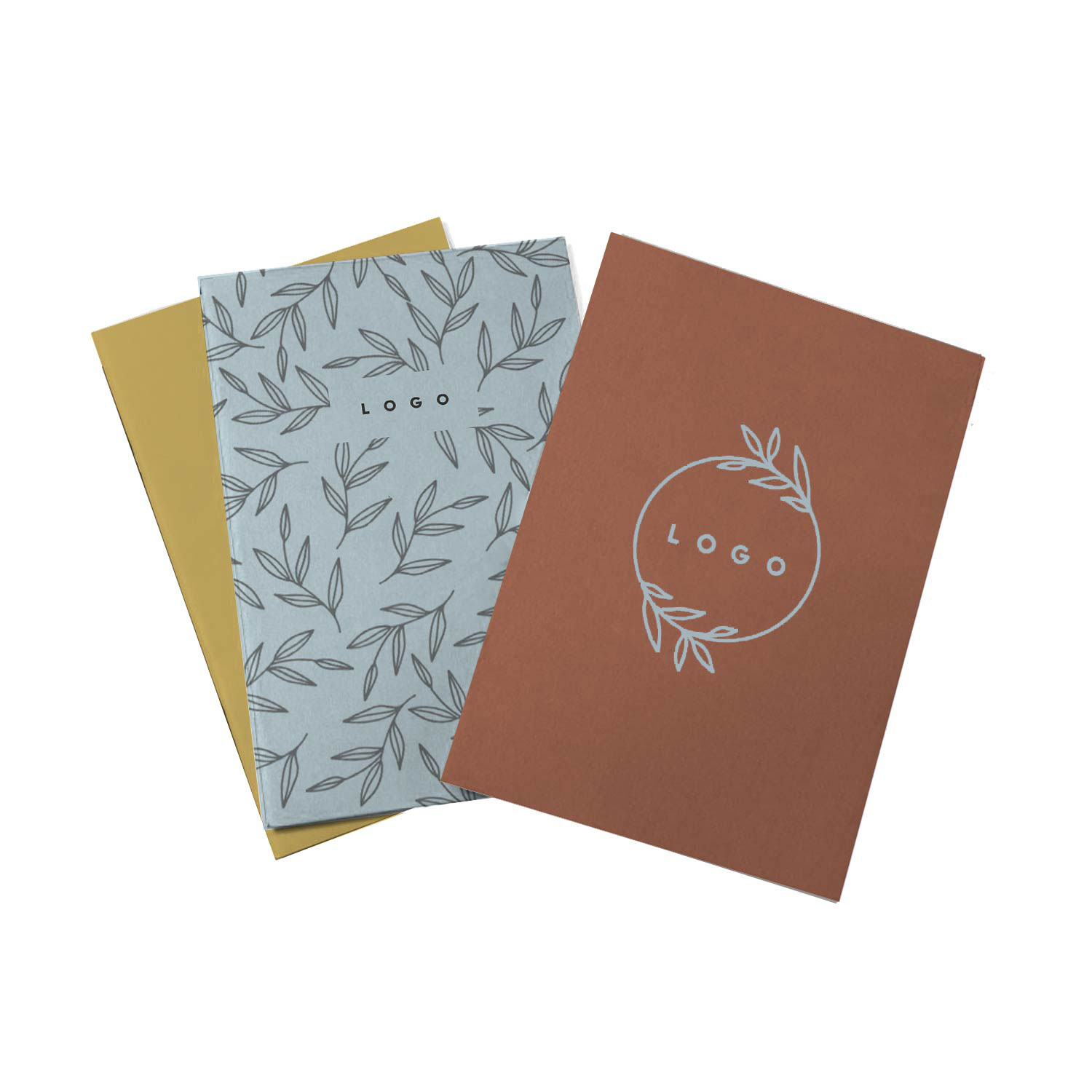 287066 eco notebook 3 pack full color imprint on each notebook