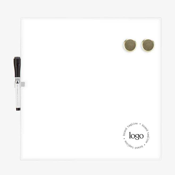 298633 square dry erase board one color one location imprint