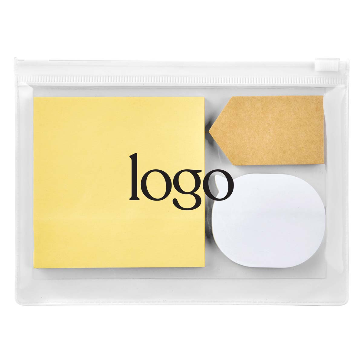 298582 sticky note pouch one color imprint on pouch