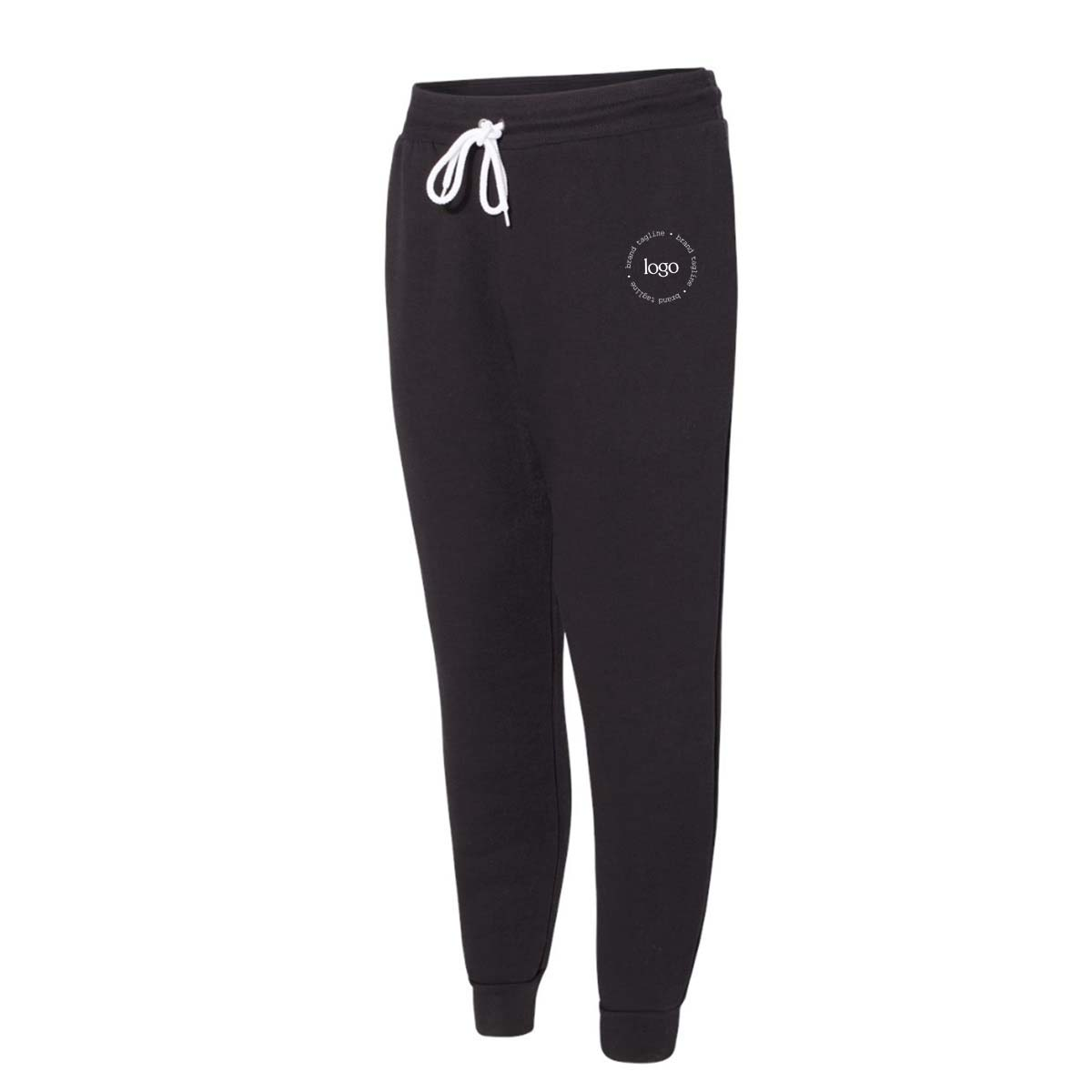 302817 adrien fleece joggers two color imprint one location
