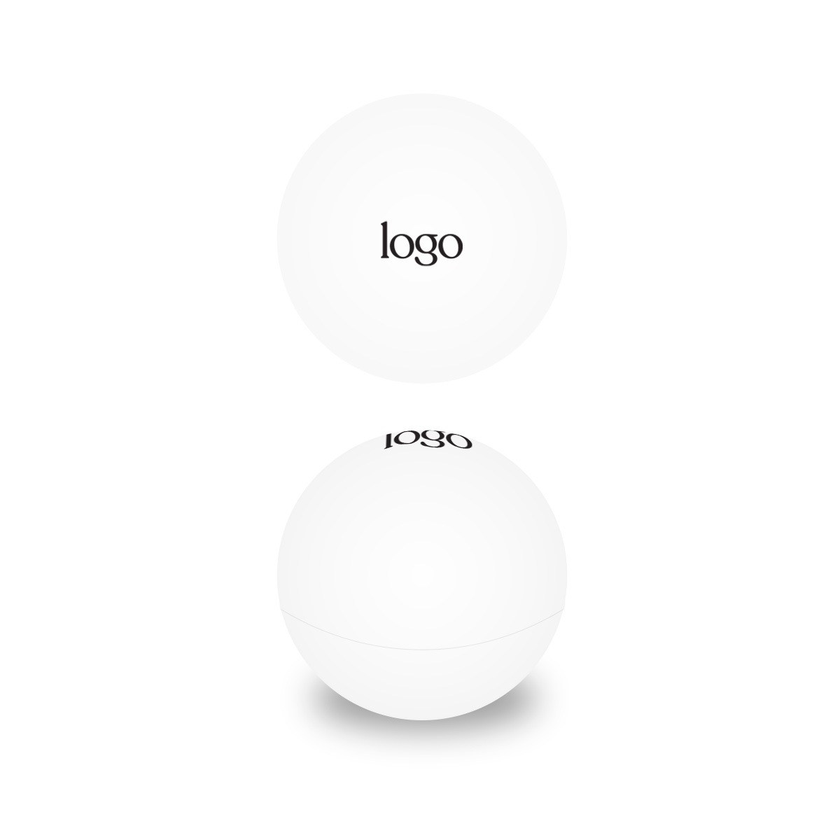 302320 natural lip balm ball one color imprint one location