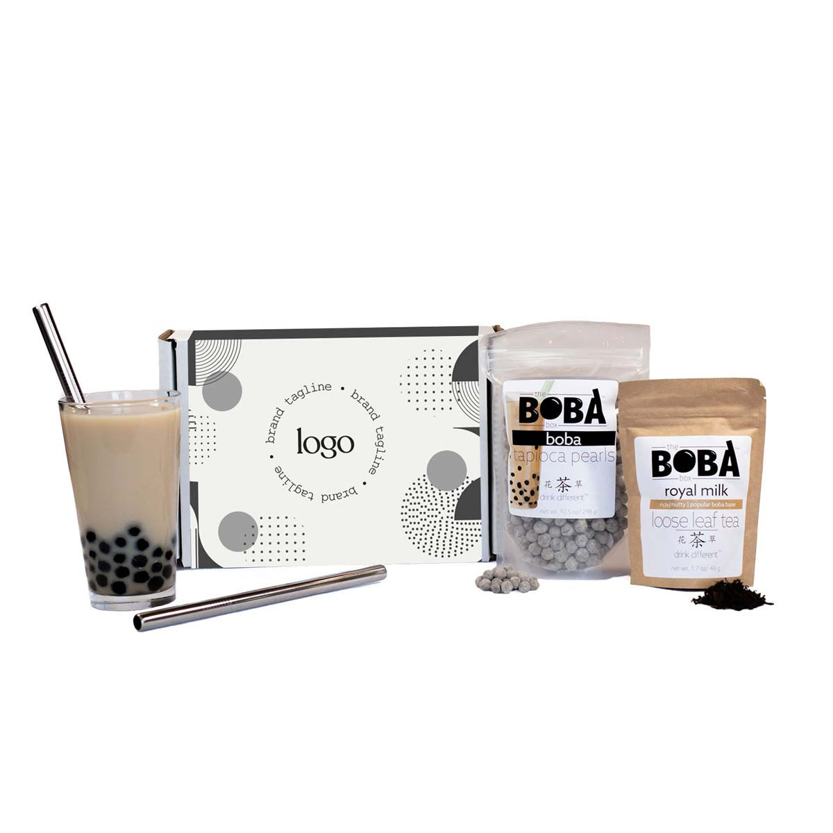 302255 bubble tea kit full color box sleeve