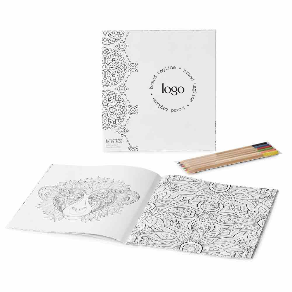 302262 tranquil coloring book set full color imprint one location