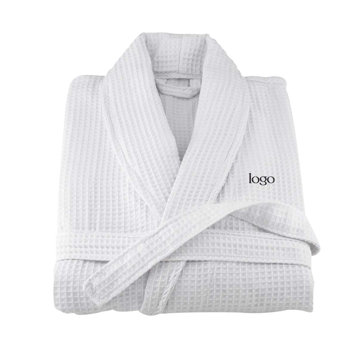 302229 waffle weave robe one location embroidered