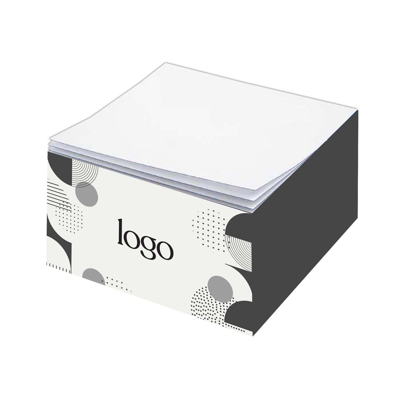 302759 half cube note pad full color printed sides no imprint on top sheet