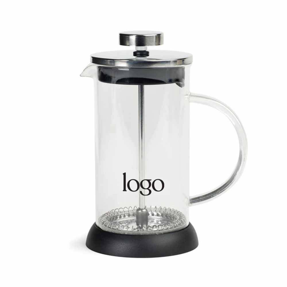 302111 personal glass coffee press one color one location imprint