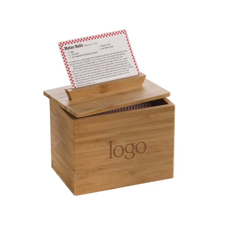 302216 bamboo recipe box one location laser engraving