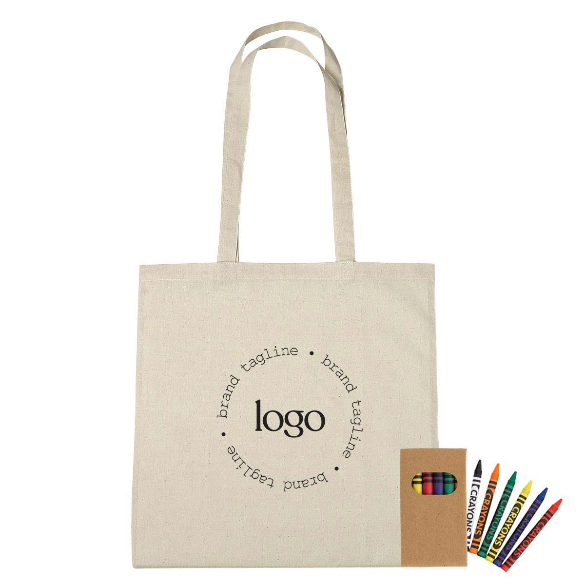 302334 canvas coloring tote bag one color one location imprint