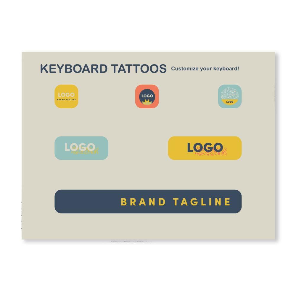 313734 laptop keyboard tattoos full color print