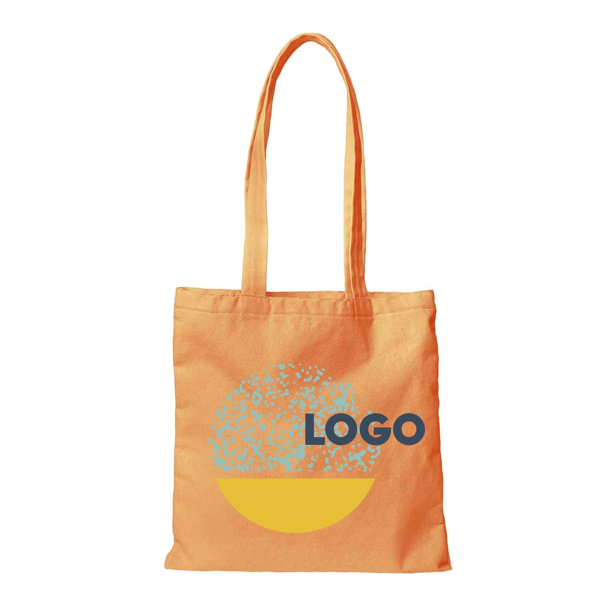 313744 premium canvas square tote three color full bleed imprint