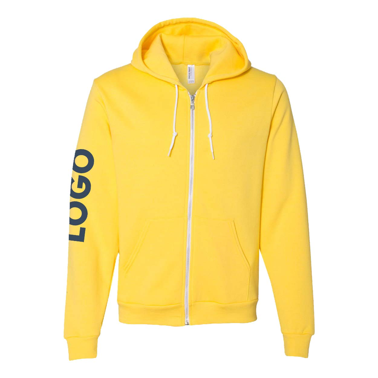 313905 unisex flex fleece zip hoodie one color imprint one location