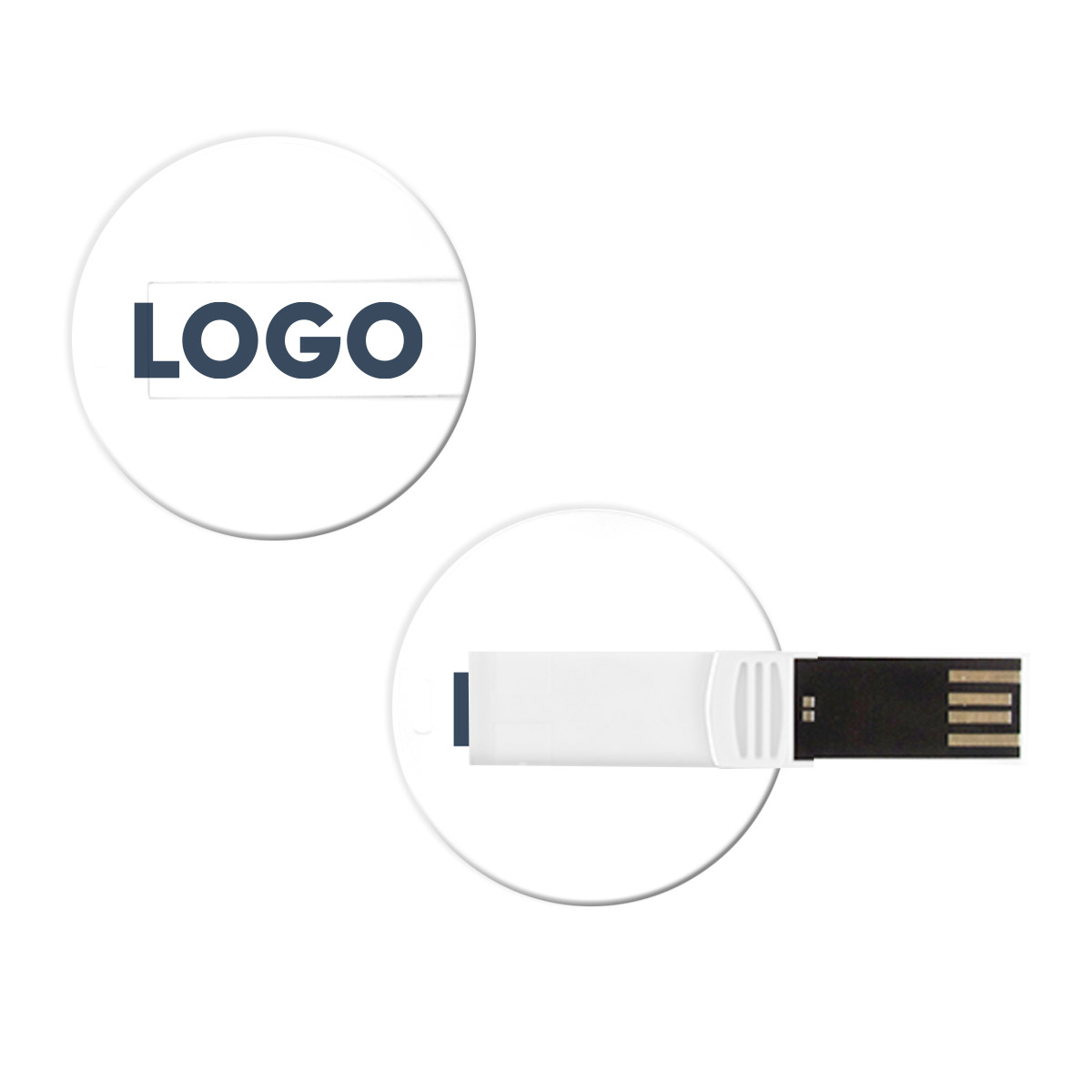 313884 flat circle usb 1gb one color one location