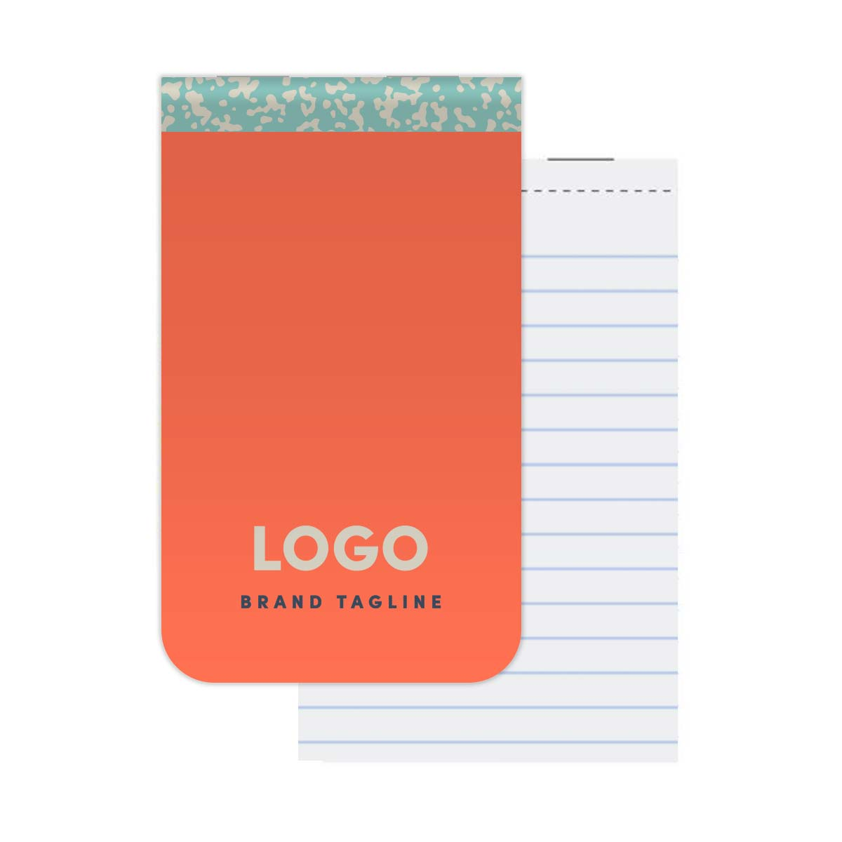 313923 full color memo pad full color cover rounded corners