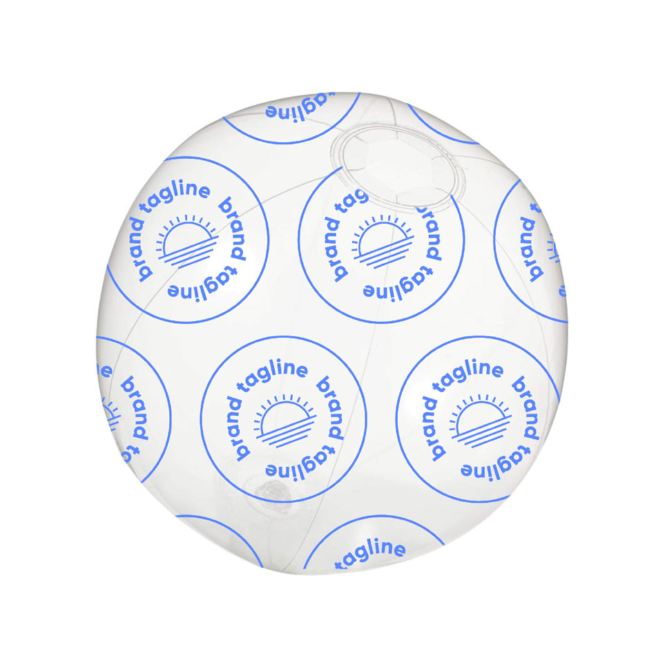 317784 6 custom beach ball one color pattern