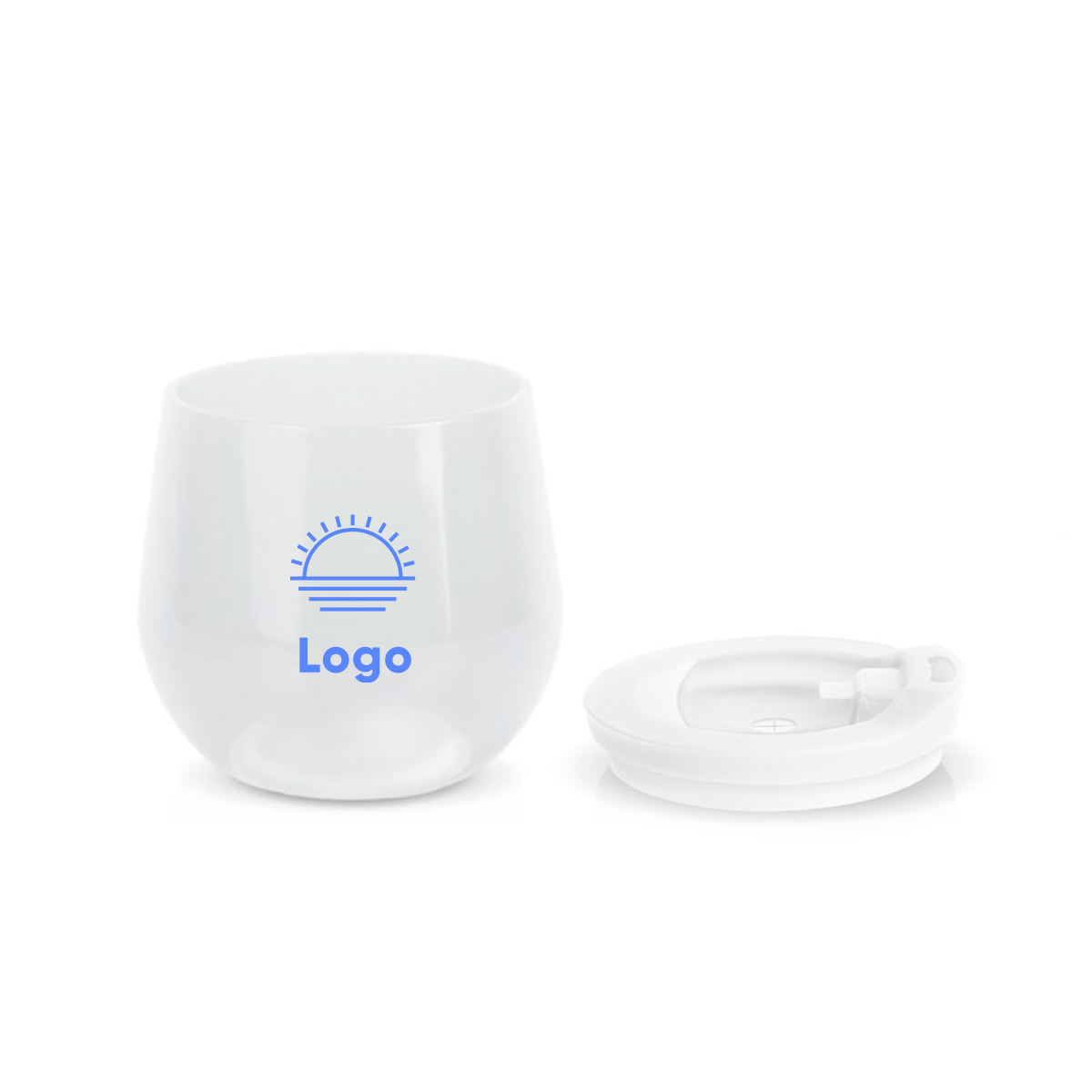 318288 silicone stemless wine glass one color imprint