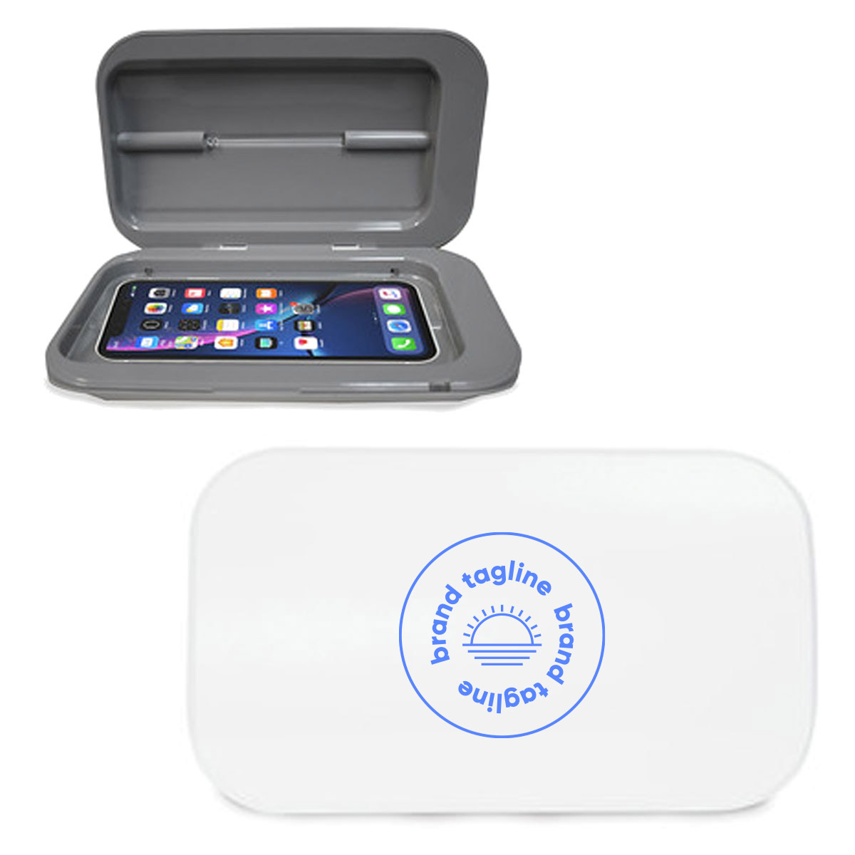 318043 fresh uv sanitizer box one color imprint one location