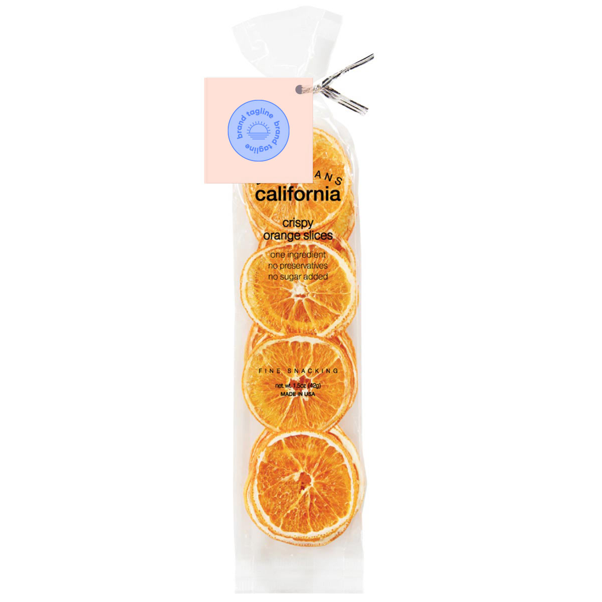 317669 premium orange slices full color label