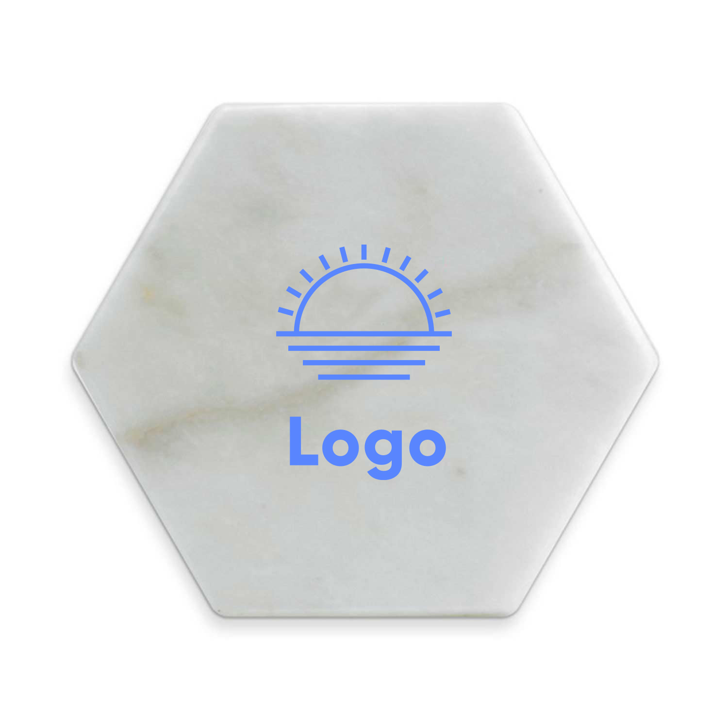 317552 marble octagon coaster one color one location imprint