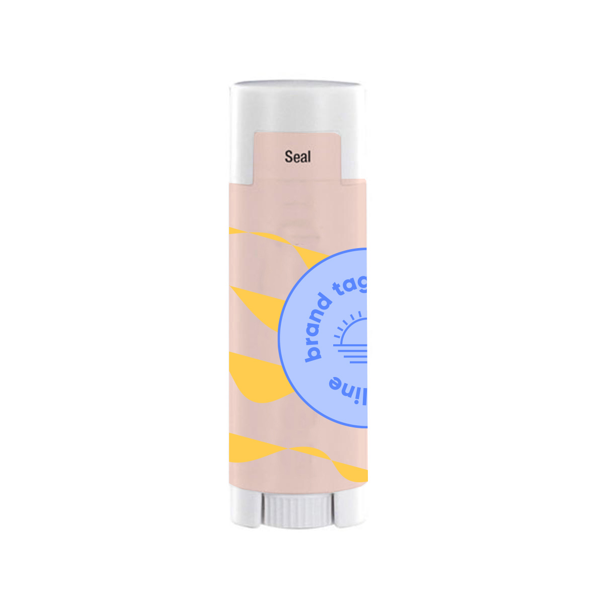 317634 spf 15 oval lip balm full color label