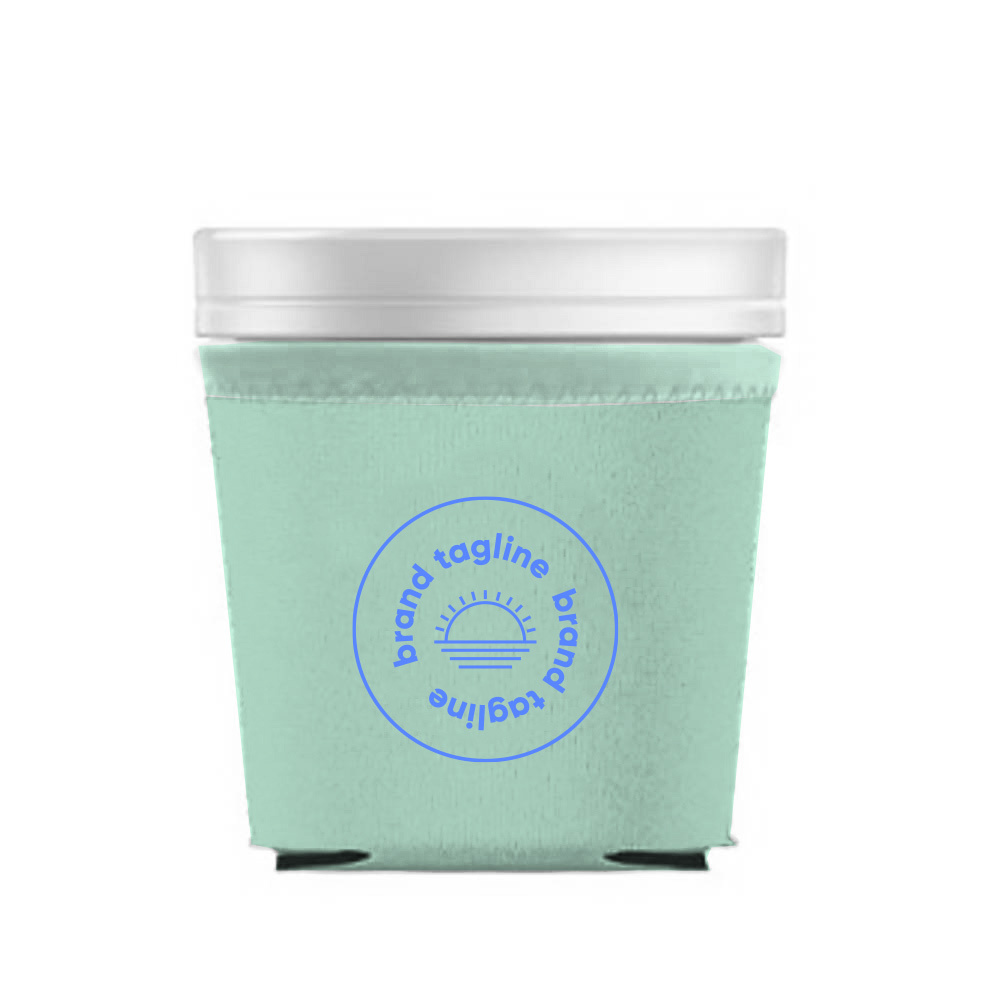 317496 chill ice cream pint koozie one color one location imprint