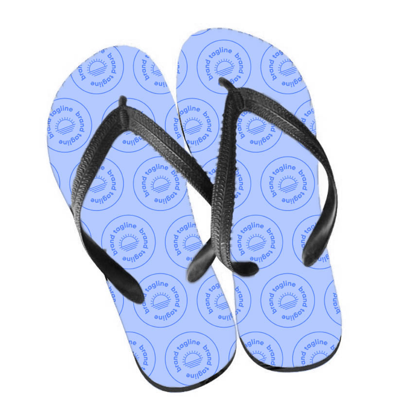 317480 full color flip flops full color process