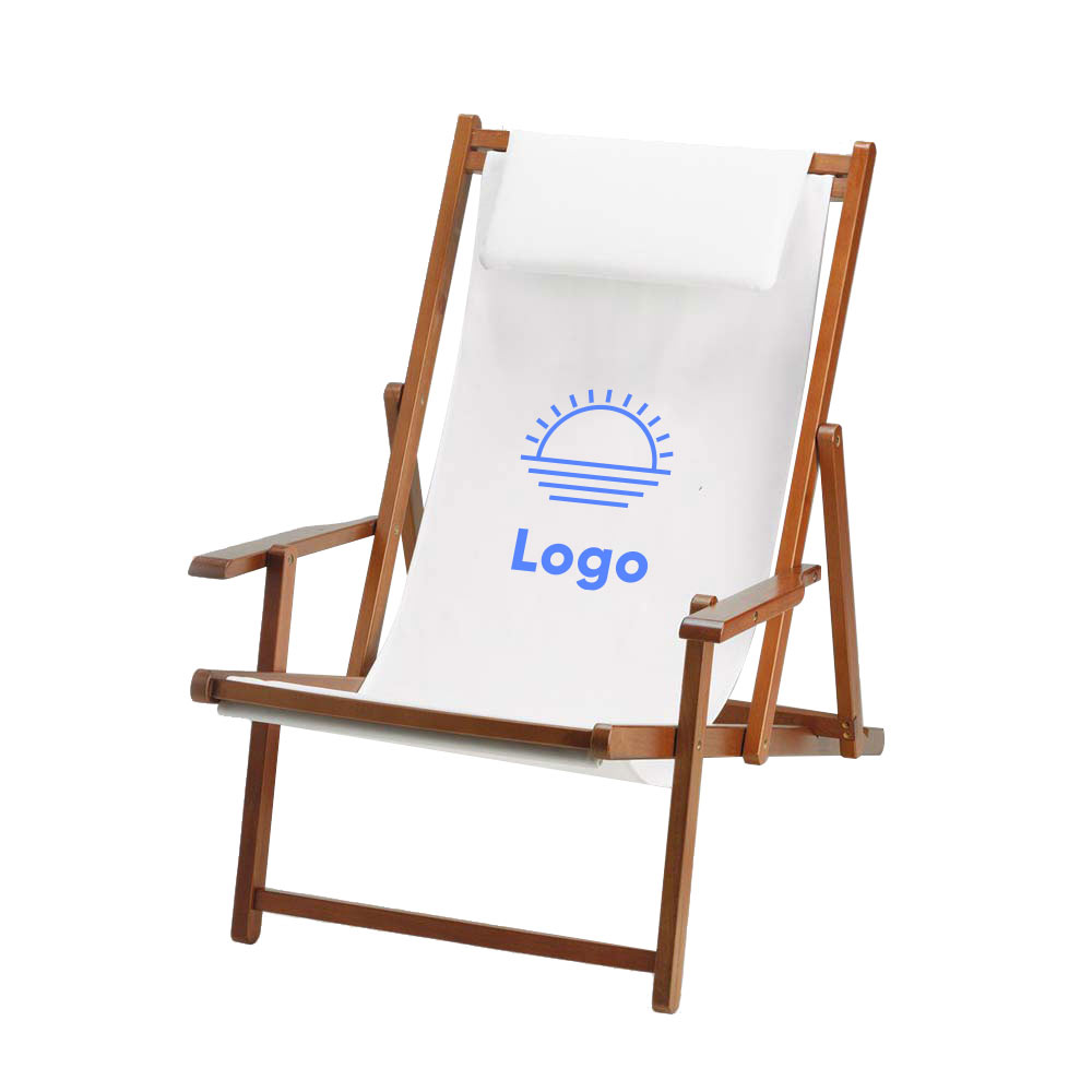 318329 wood sling chair one color imprint one location
