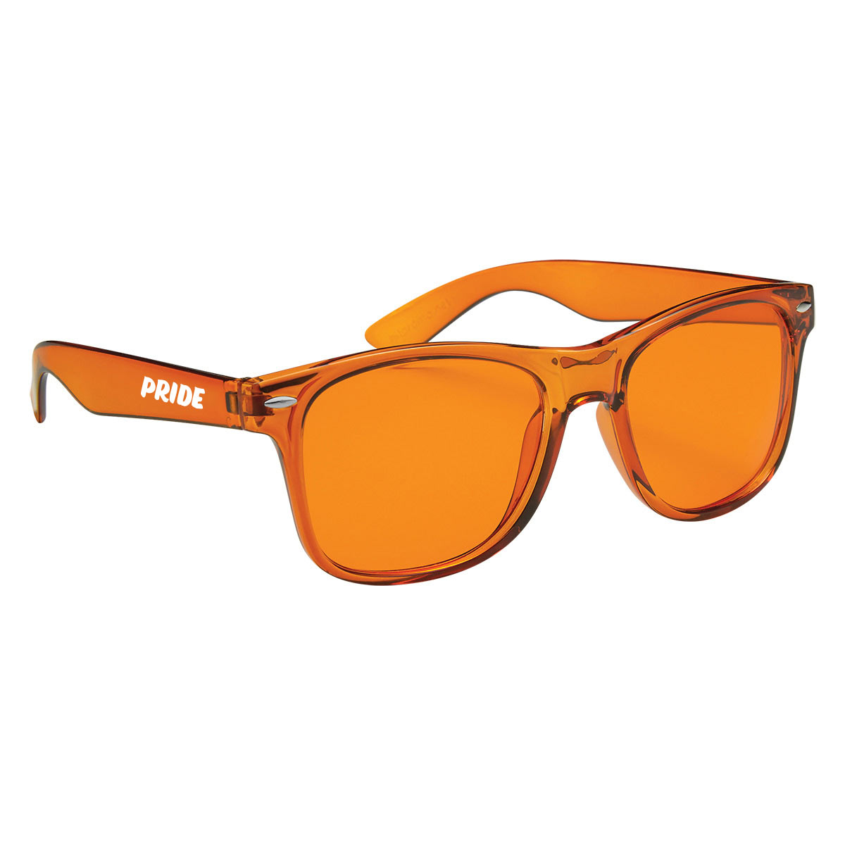 315543 maui translucent sunglasses one color imprint on arm white only