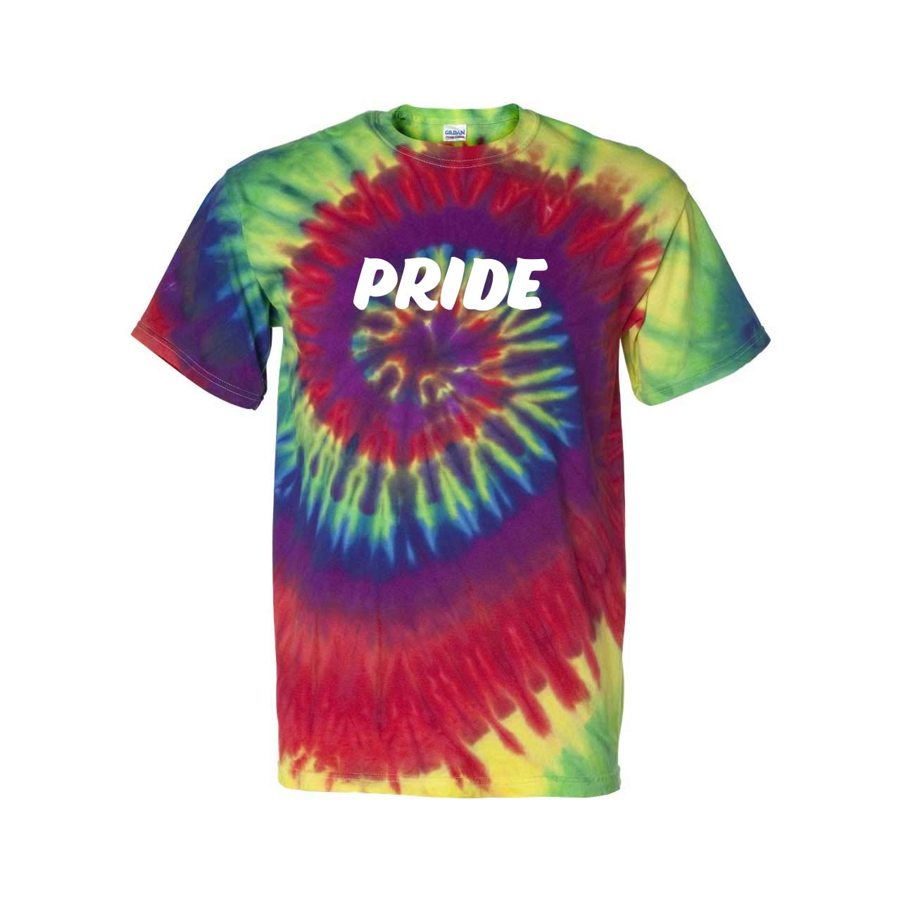 315549 tie dye short sleeve shirt one color one location imprint