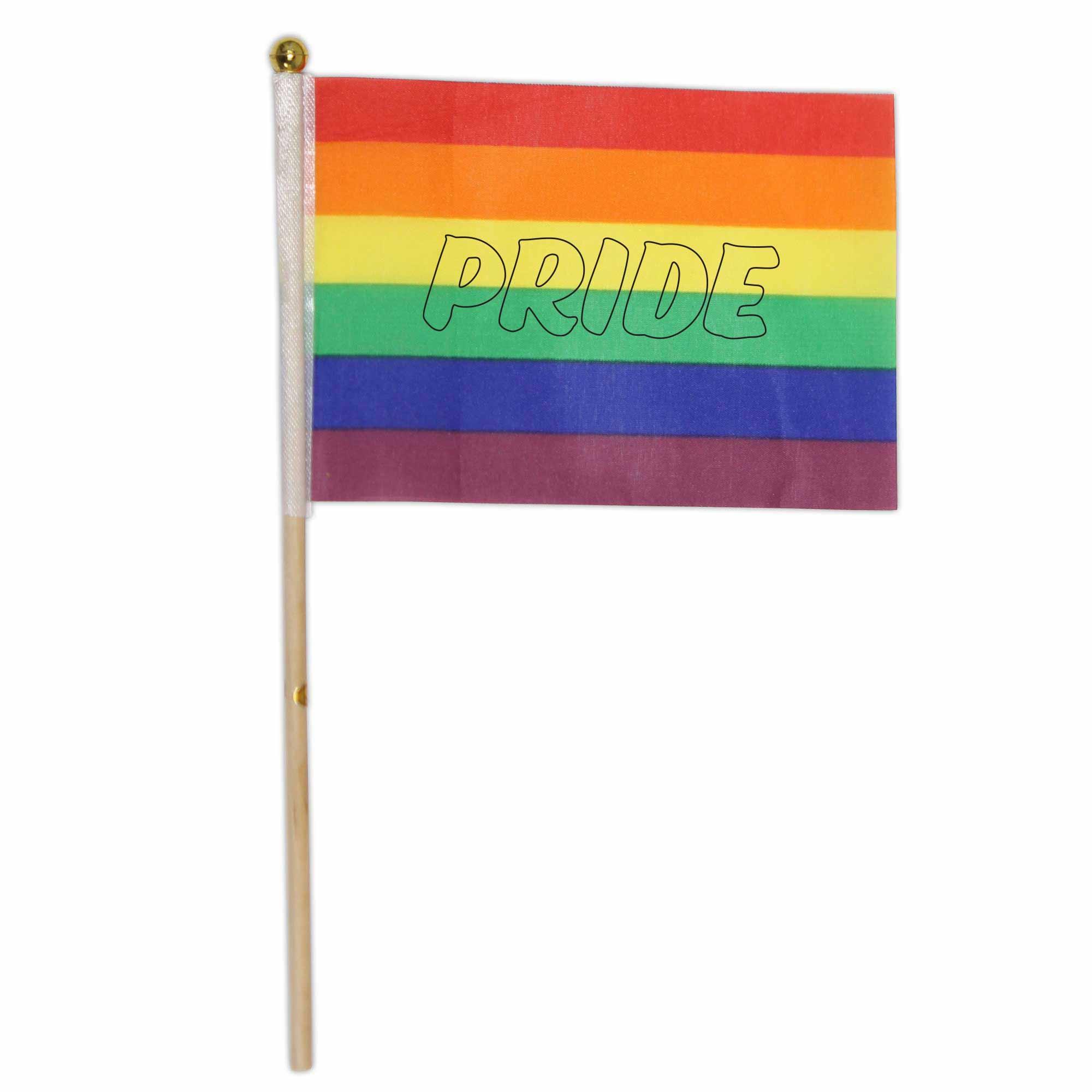 315504 rainbow cloth flag one color one location imprint